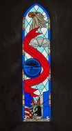 Stained glass window dedicate...