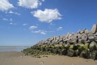 Mound type sea wall / seawall...