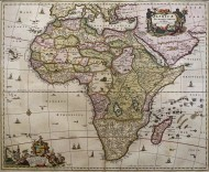 17th century map of the Afric...