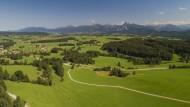 View from the Ostallg�u towar...