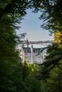View of Neuschwanstein Castle...