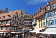 Half-timbered houses in the o...