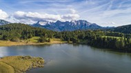 Aerial view of the Geroldsee ...