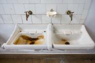 Two dirty sinks / wash basins...