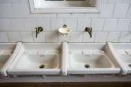 Two white sinks / wash basins...
