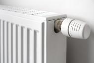 Close-up of thermostatic radi...