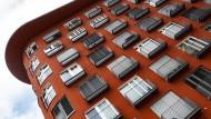 Facade of a modern building i...