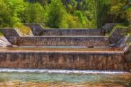 Waterfall in the Jenbach para...
