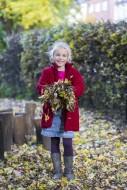 Girl (7) in autumn environmen...