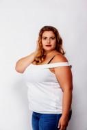 Portrait of a fat woman