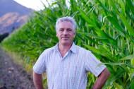 Happy Farmer Man with Grey Ha...