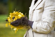 Woman Holding Yellow Autumn L...