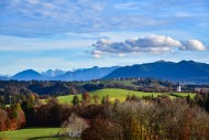 View into the Ammergau Alps, ...