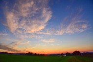 Sunset near Augsburg, Swabia,...