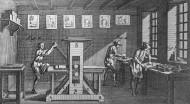 18th century printers working...