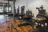 Old printing presses at the I...