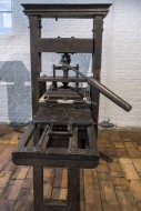 18th century wooden printing ...