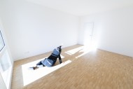 Depressed Woman Lying on the ...