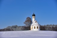 Chapel in winter in the F�rst...
