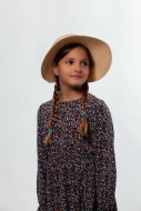 Portrait of a young girl in a...