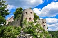 Castle in Pappenheim in the d...