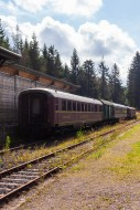 Old railway wagons of the GDR...