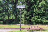 Station lamp with place-name ...