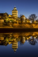 Gothic Burgtor Gate reflected...